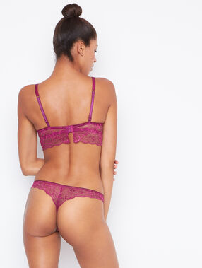 Lace tanga purple.
