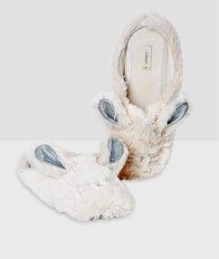 Bunny slippers ecru.