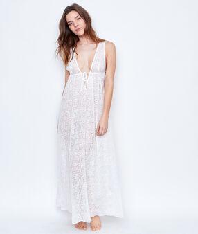 Lace nightdress white.