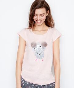Pyjama oberteile rosa.