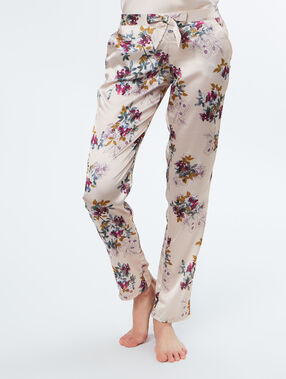 Satine pyjama pants beige.