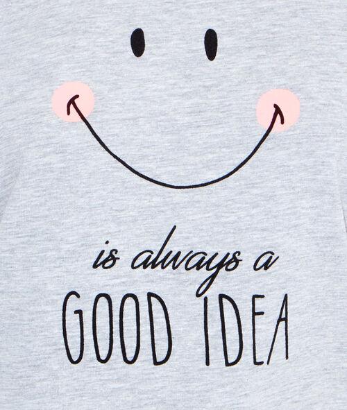 Printed smiley top