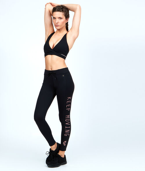Sculpting straight Jegging, with message