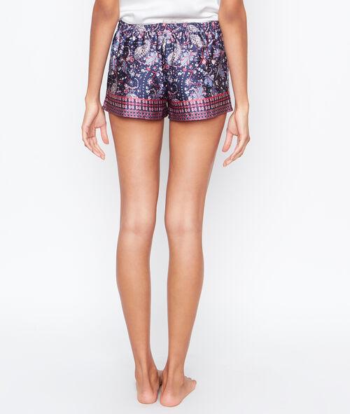 printed satine pyjama shorts