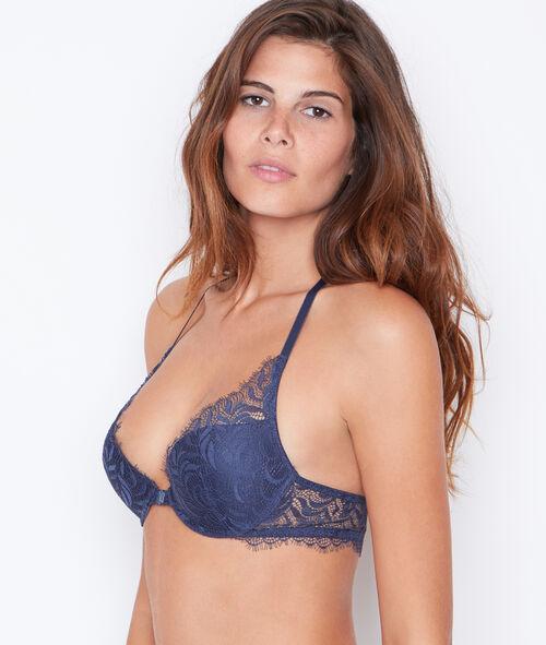 Lace triangle push up bra