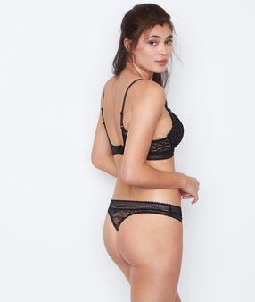 Lace string black.