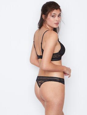 Lace string black.