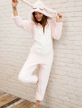 Rabbit overall pink.