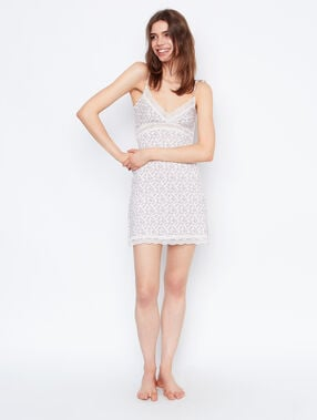 Printed nightdress beige.