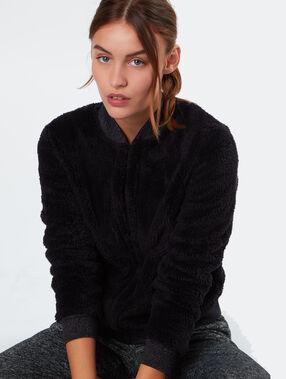 Sweat cardigan black.