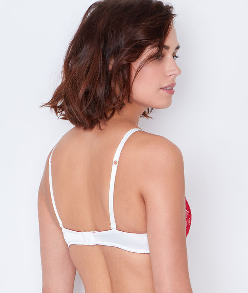 Satin and lace magic up bra