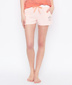 Smiley pyjama shorts orange.