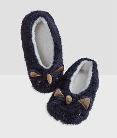 3d unicorn slippers blue.