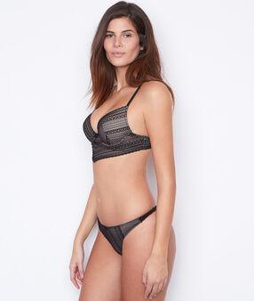Lace magic up® bra black.