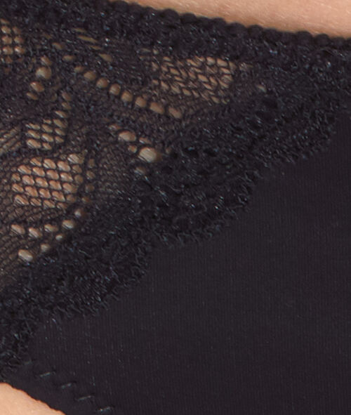 Lace and micro knickers