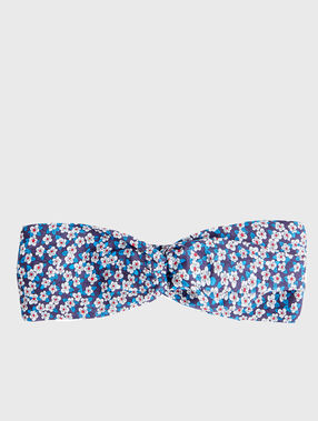 Head band liberty blau.