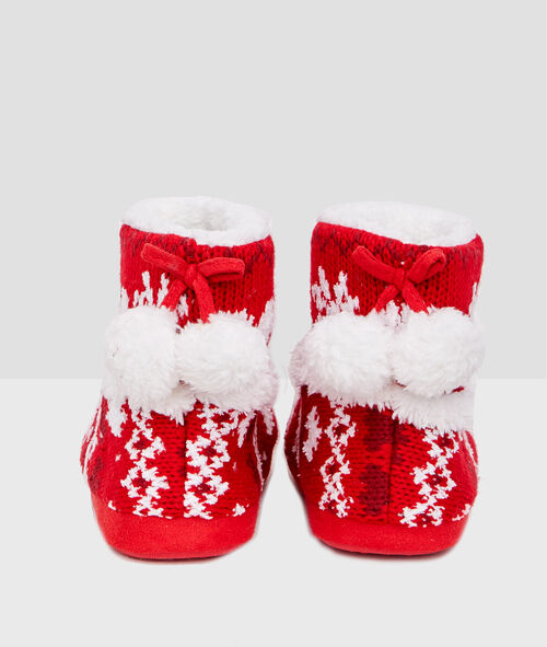 Jacquard slipper boots