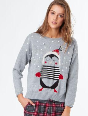 Christmas knitwear grey.