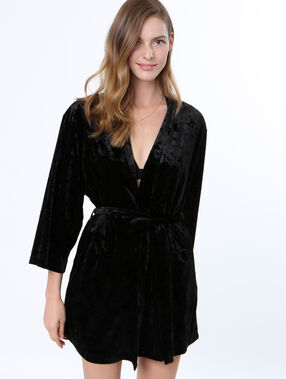 Velvet negligee black.
