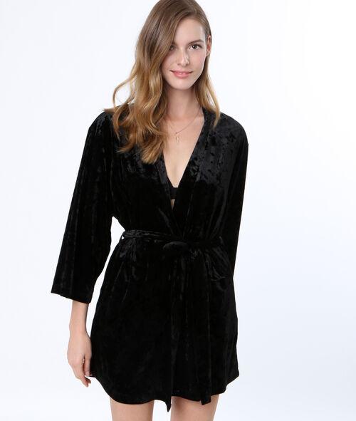 Velvet negligee
