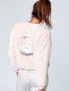 Faux fur bomber pink.