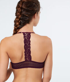 Push-up-bra purple.