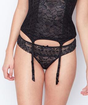 Lace corset black.