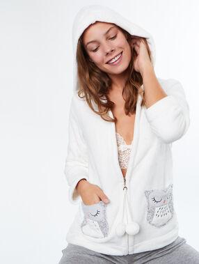 Pyjamas jacken weiß.