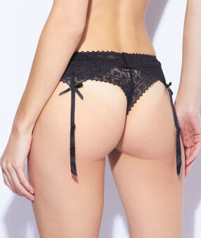 Lace suspenders black.