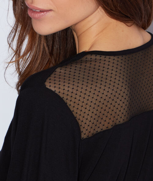 Viscose and lace negligee