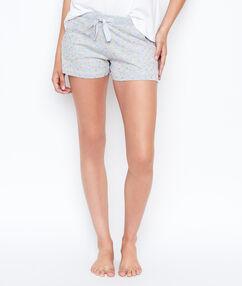 Smiley print shorts grey.