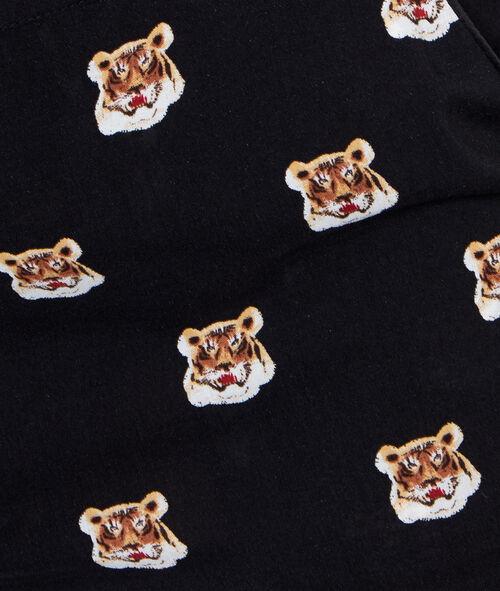 Pantalon imprimé tigre
