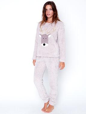 Pyjamas 2 teilig beige.