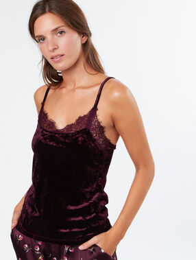 Velvet top burgundy.