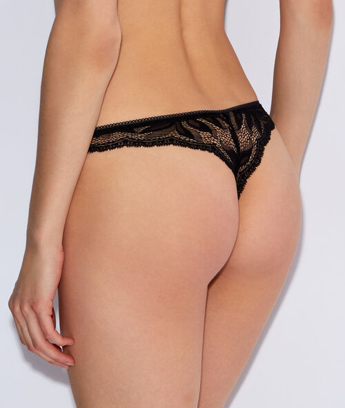 Micro and lace tanga