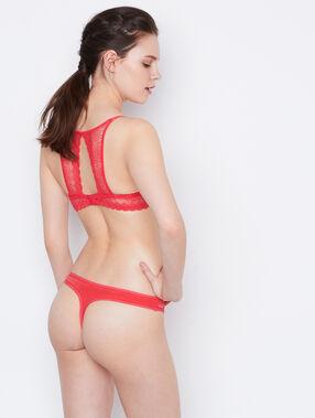 Lace tanga red.