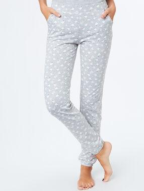 Printed pants grey.