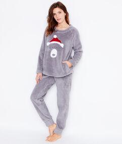 Pyjamas 2 teilig grau.