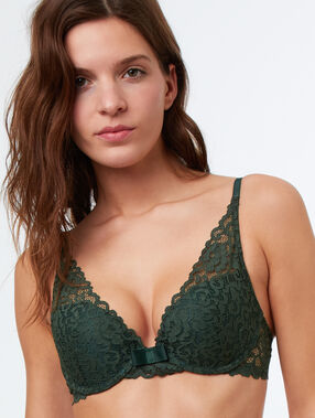 Triangle bra green.