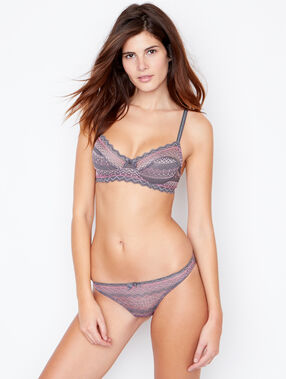 Lace knickers grey.