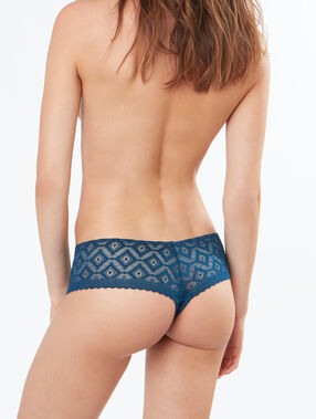 Lace tanga blue.
