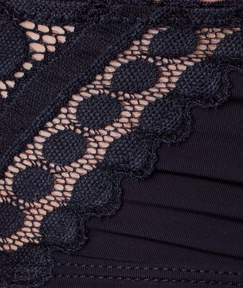 MICROFIBER AND LACE SHORTS