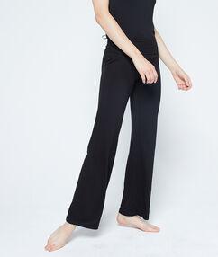 Viscose pyjama pants black.