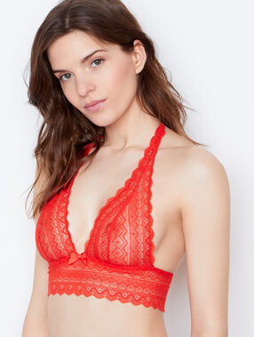 Lace bra orange.