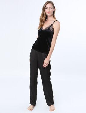 Velvet pyjama oberteile schwarz.