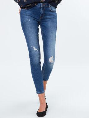 Cotton slim jeans light denim.