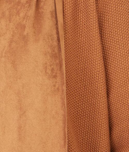 bi-material cardigan