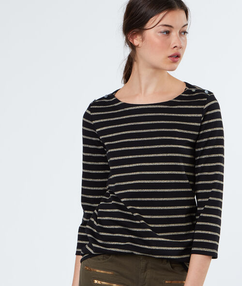 Stripped cotton sweater