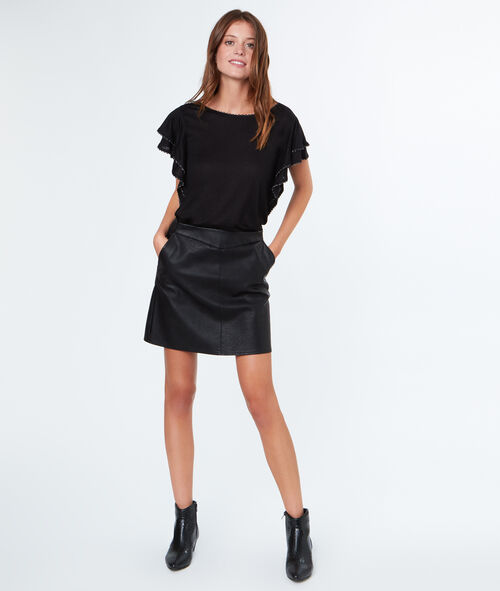Structured sleeves skirt