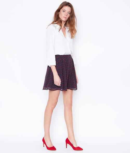 Heart print skirt
